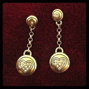Brighton stud dangle heart earrings